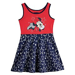 Disney's Minnie Mouse Toddler Girl Glittery Graphic Patriotic Skater Dress by Jumping Beans®