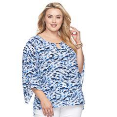 Plus Size Dana Buchman Kimono Sleeve Top