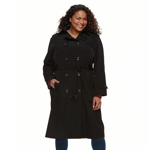 eefb2f4bb6d68 Plus Size TOWER by London Fog Double-Breasted Trench Coat