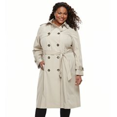 Plus Size TOWER by London Fog Double-Breasted Trench Coat