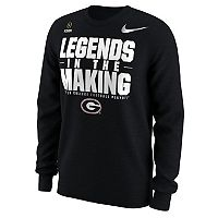 Men's Nike Georgia Bulldogs College Football Playoffs Legends in the Making Long-Sleeve Tee