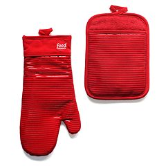 Food Network™ Silcone Oven Mitt & Pot Holder Set
