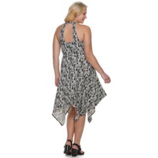 Juniors' Plus Size Candie's® Lace-Up Maxi Dress