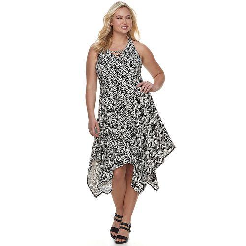 Juniors\' Plus Size Candie\'s® Lace-Up Maxi Dress