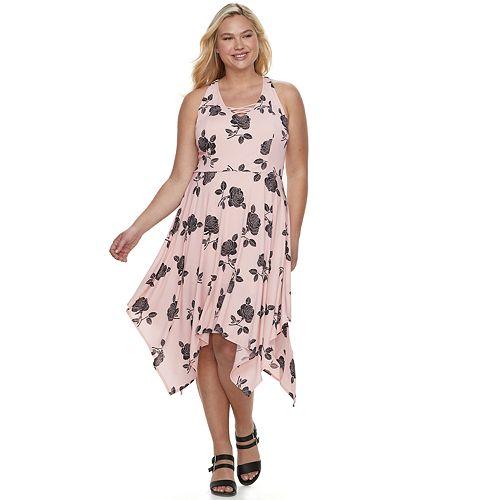 Juniors' Plus Size Candies® Lace-Up Maxi Dress