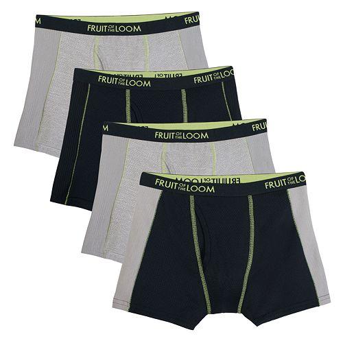 Boys 4-20 Fruit of the Loom 3-Pack +1 Bonus Breathable Flex Boxer Briefs