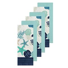 The Big One® Seashell Print Kitchen Towel 6-pack
