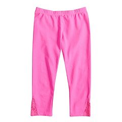 Girls 7-16 & Plus Size SO® Lace Hem Capri Leggings