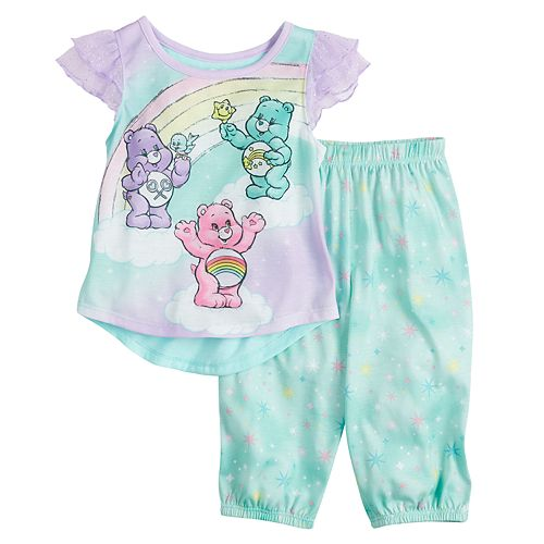 Care Bears Toddler Girls Pajama Top /& Pant Set Size 2T 3T 4T