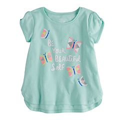 Toddler Girl Jumping Beans® 'Beautiful' Butterfly Glitter Graphic Tee