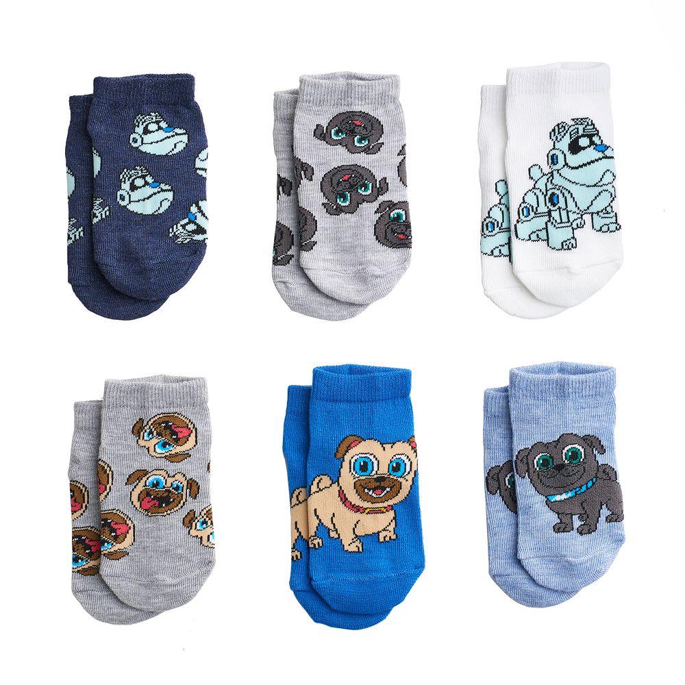Disney's Puppy Dog Pals Toddler 6-pack Shorty Socks
