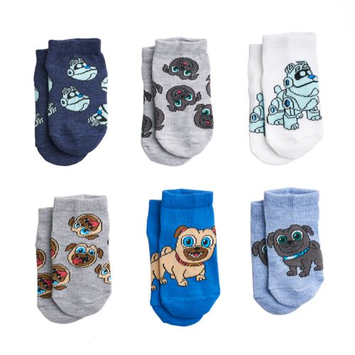 Disney S Puppy Dog Pals Toddler 6 Pack Shorty Socks