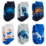 Toddler Boy Jurassic World 6-pack Shorty Socks
