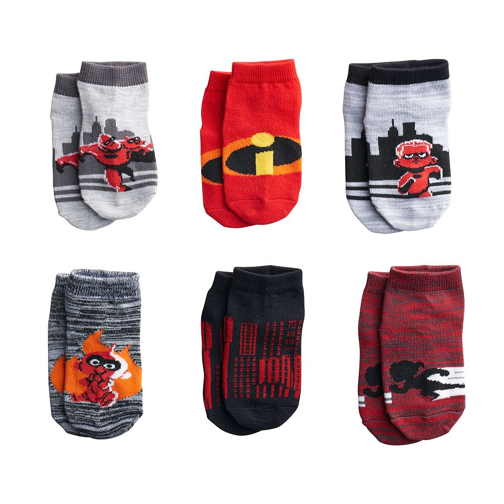 Disney Pixar The Incredibles Toddler 6 Pack Shorty Socks Carters 3 Pieces Orange Mickey Mouse