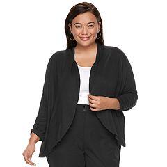 Plus Size Apt. 9® Knit FlyAway Cardigan