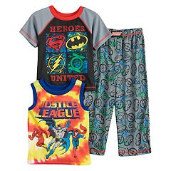Toddler Boy DC Comics 'Justice League' Superman, Batman, The Flash & Green Lantern Tops & Bottoms Pajama Set