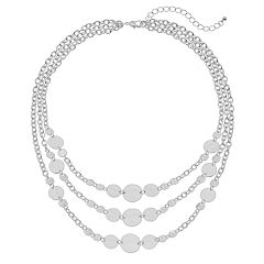 Disc Multistrand Nickel Free Necklace