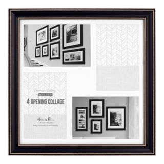 """Malden 4-Opening Distressed 4"""" x 6"""" Collage Frame"""