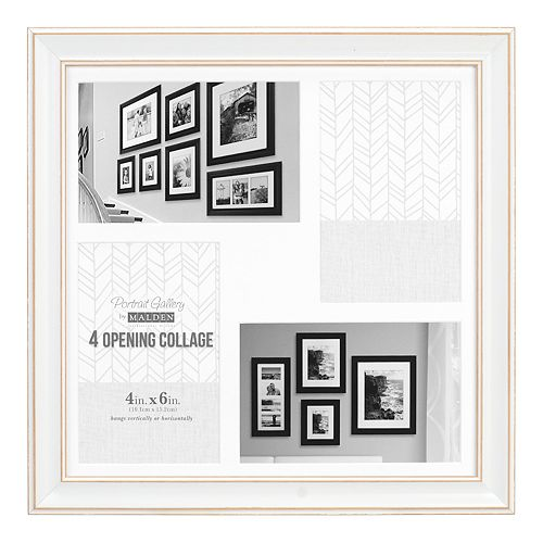 "Malden 4-Opening Distressed 4"" x 6"" Collage Frame"