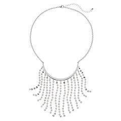 Beaded Chain Fringe Nickel Free Necklace