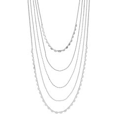 Semi-Circle Multistrand Nickel Free Necklace