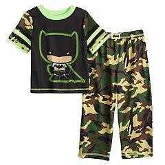 Toddler Boy DC Comics Batman Camo Top & Bottoms Pajama Set