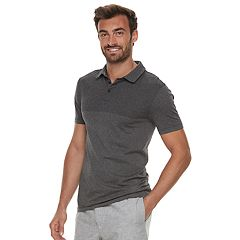 Men's Marc Anthony Slim-Fit Textured Contrast Polo
