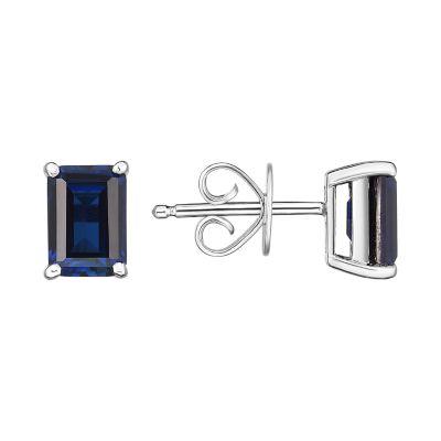 Sterling Silver Sapphire Stud Earrings