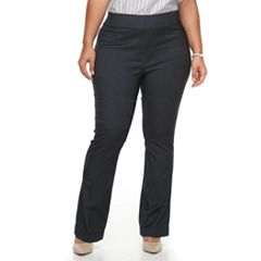 Plus Size Apt. 9® Twill Pull-On Bootcut Pants
