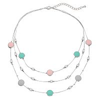 Bead & Enamel Multistrand Necklace