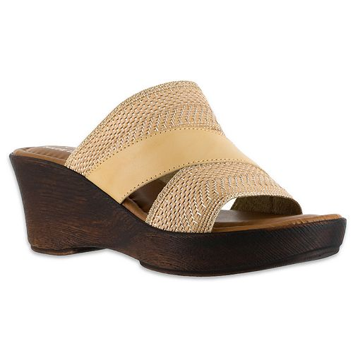 f27e5c5bfdca Tuscany by Easy Street Positano Women s Wedge Sandals