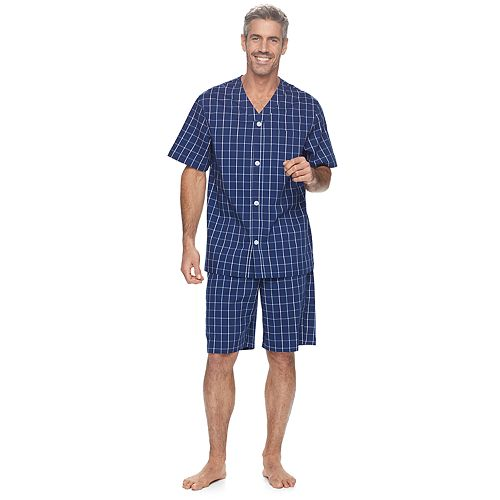 Men/'s Croft /& Barrow Sleep Henley /& Flannel Two-Piece Pajama Gift set