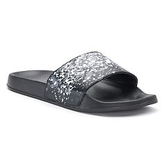 Men's Paint Splatter Slide Sandals