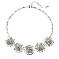 Colorful Flower Statement Necklace
