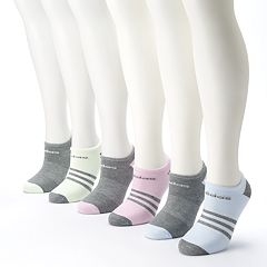 Women's adidas 6 pkSuperlite Striped & Solid No-Show Socks
