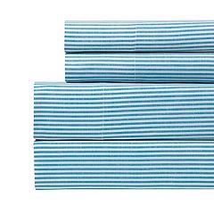 Westport Home Yarn Dyed Stripe 200 Thread Count Sheet Set