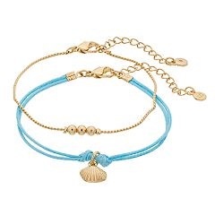 LC Lauren Conrad Seashell Friendship Bracelet Set