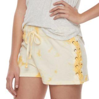 Juniors' Vanilla Star Lace-Up Shorts