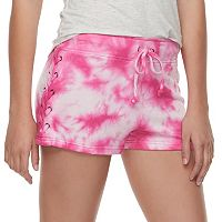 Juniors' Vanilla Star Lace-Up Shorts