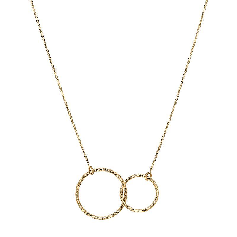 88a27585dd Everlasting Gold 14k Gold Interlocking Circle Pendant Necklace, Women's,  Size: 17″, Yellow