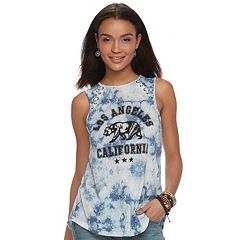 Juniors' 'Los Angeles' California Bear Lace-Up Tank