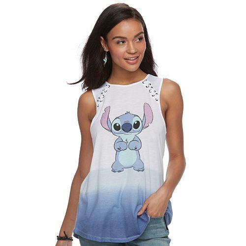Disney's Lilo & Stitch Juniors' Lace-Up Ombre Tank