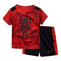 Baby Boy Nike 'Just Do It' Legacy Tee & Shorts Set
