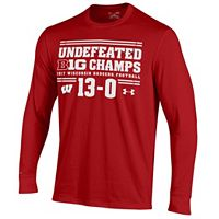 Men's Under Armour Wisconsin Badgers College Football Playoffs Charged Long-Sleeve Tee