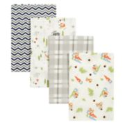 Trend Lab Woodsy Gnomes 4-Pack Flannel Blankets