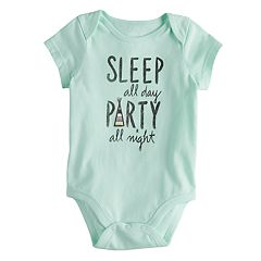 Baby Girl Jumping Beans® 'Sleep All Day Party All Night' Graphic Bodysuit