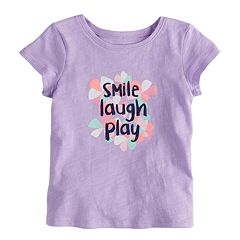 Baby Girl Jumping Beans Slubbed Graphic Tee