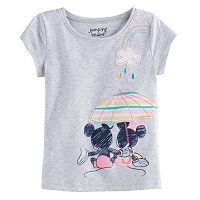 Disney's Mickey Mouse & Minnie Mouse Baby Girl Umbrella Graphic Tee by Jumping Beans®