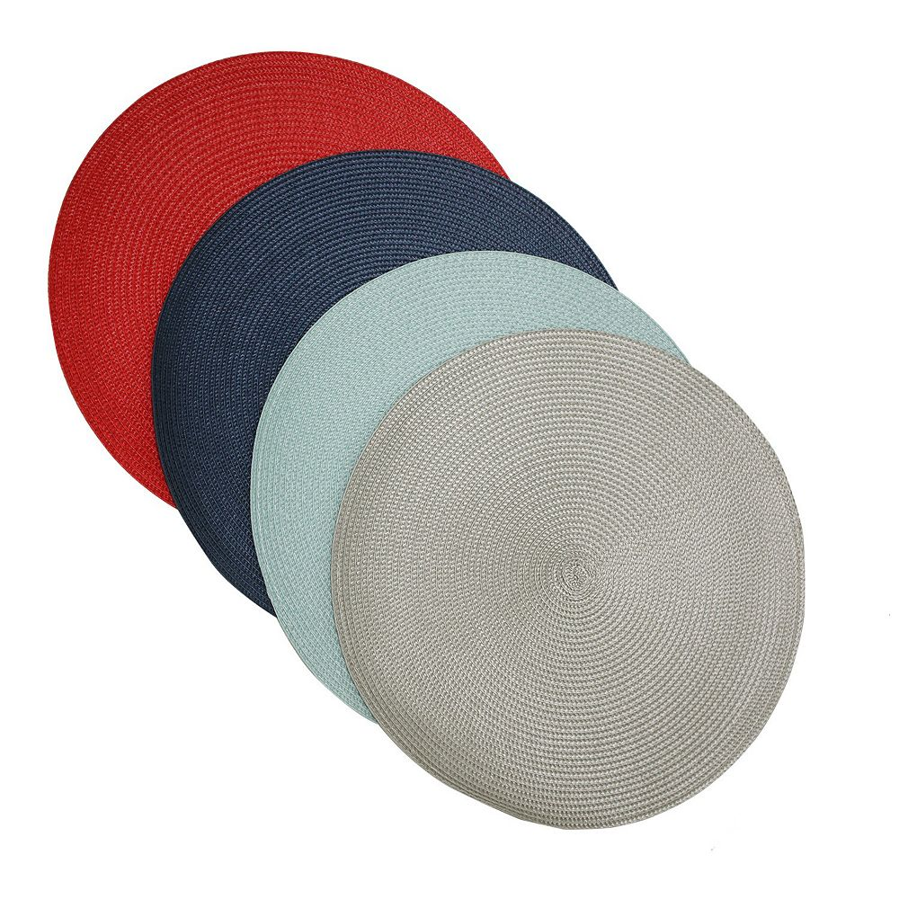 Food Network™ Multi-Color Round Placemat 4-pack