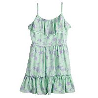 Disney Princess Girls 7-16 Starfish & Seashell Print Ruffled Dress